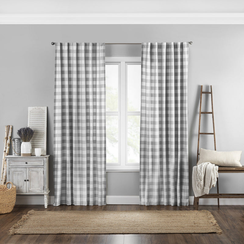Farmhouse Buffalo Check Window Curtain