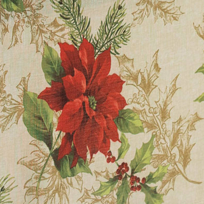 Festive Poinsettia Holiday Cloth Napkins, Set of 4