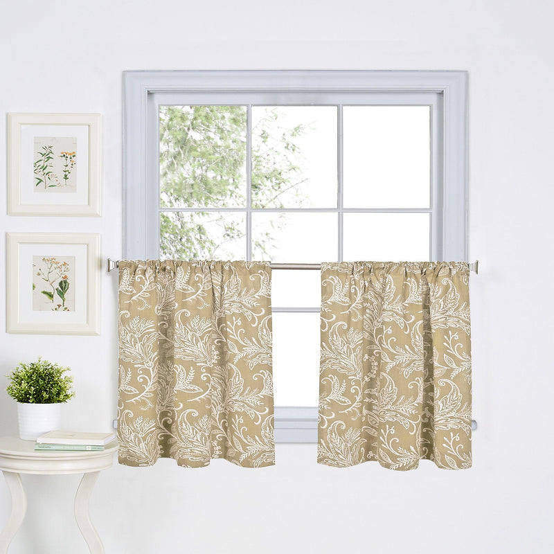 Flora Rod-Pocket Window Tiers & Valance (Sold Separately)