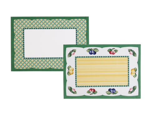 "Villeroy and Boch French Garden Cotton Fabric Reversible Placemat, 14""x20"" Set of 4"