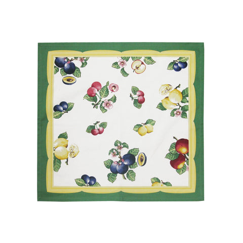 "Villeroy and Boch French Garden Cotton Fabric Napkin, 21""x21"" Set of 4"