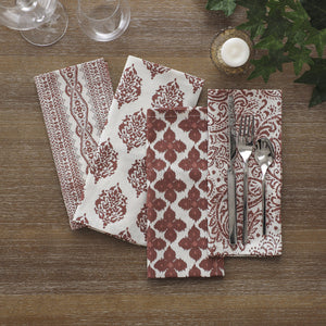 Everyday Casual Prints Assorted Cotton Fabric Napkins, Set of 24