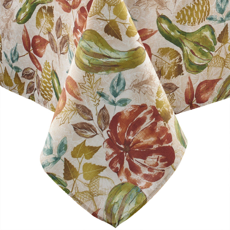 Gourd Gathering Fall Printed Tablecloth