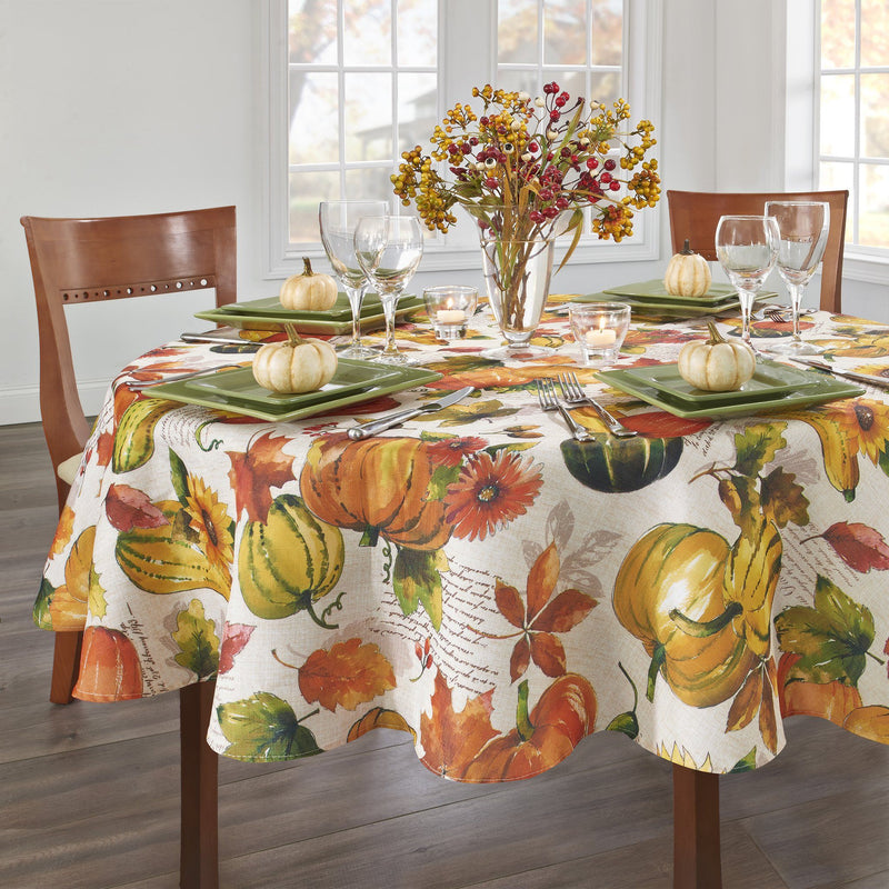 Grateful Season Fall Printed Tablecloth