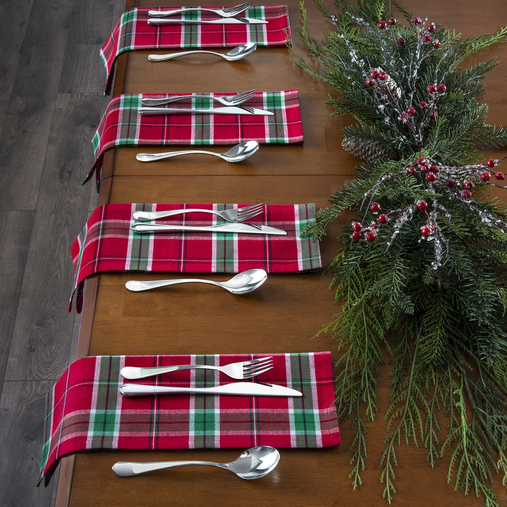 Home for the Holidays Plaid Napkins, Set of 4