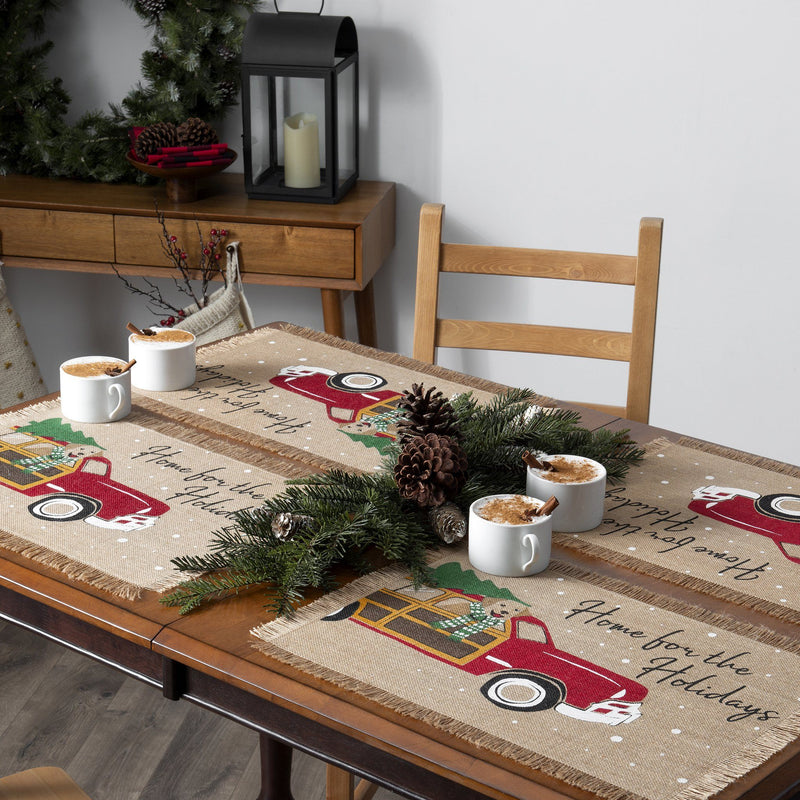 Home For the Holidays Burlap Placemat, Set of 4