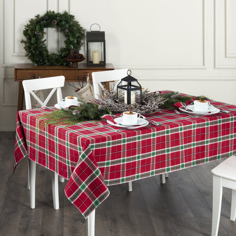 Home For The Holidays Plaid Tablecloth