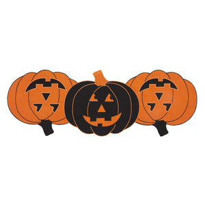 Farmhouse Living Jack-o-Lantern Pumpkin Centerpiece Table Runner