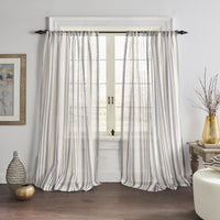 Hampton Stripe Sheer Window Curtain