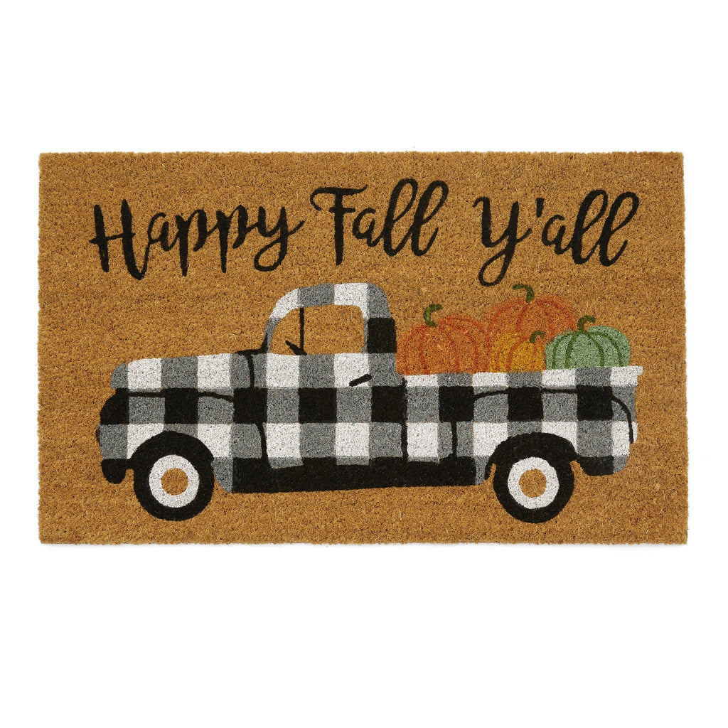 Happy Fall Y'all Coir Doormat