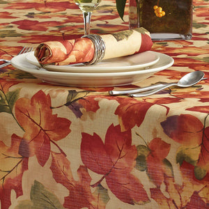 Harvest Festival Fall Printed Napkins, Set of 8