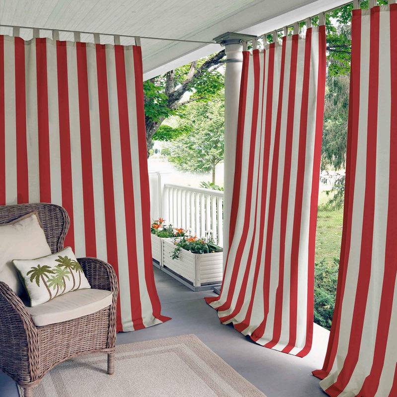 Highland Stripe Indoor/Outdoor Window Panel Collection