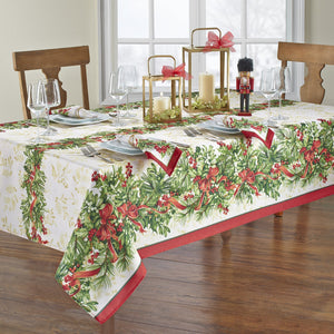 Holly Traditions Holiday Tablecloth