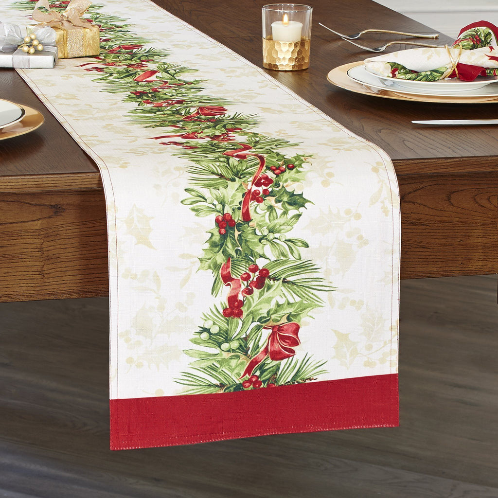 Holly Traditions Holiday Table Runner