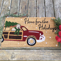 Home for the Holidays Coir Door Mat