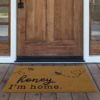 Farmhouse Living Honey I'm Home Bee Coir Doormat