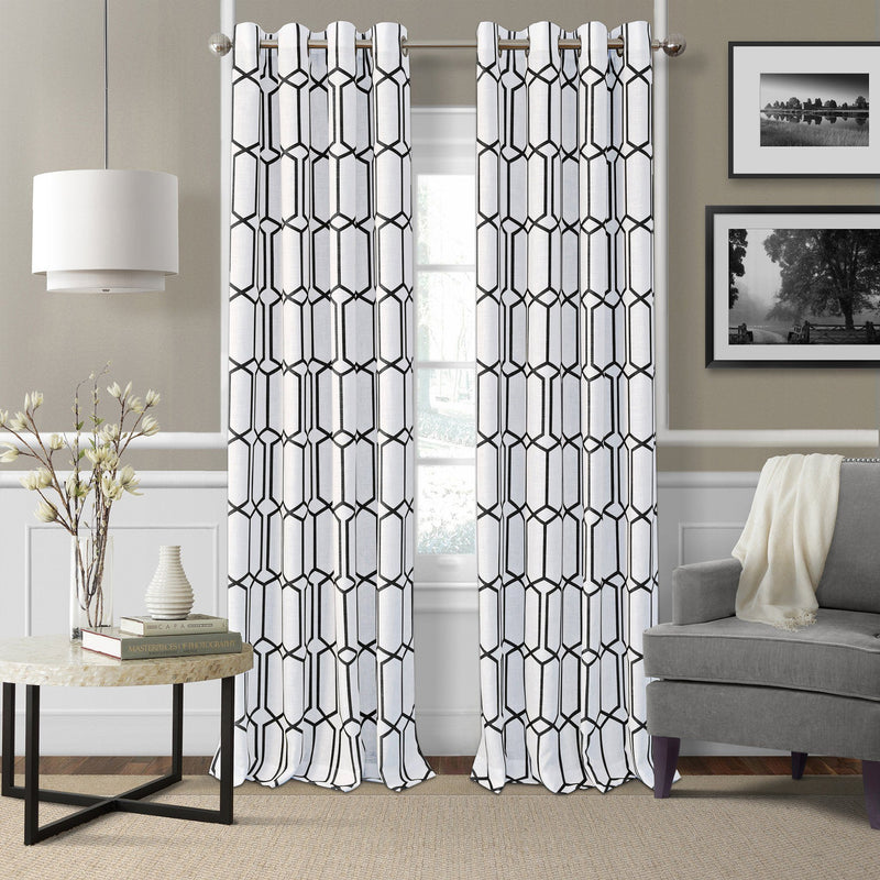 Kaiden Geometric Room Darkening Window Curtain