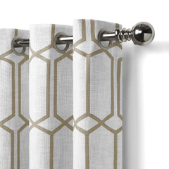 95 inch taupe curtain