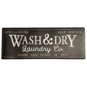 Farmhouse Living Rustic Laundry Co. Wash and Dry Country Anti Fatigue Comfort Mat