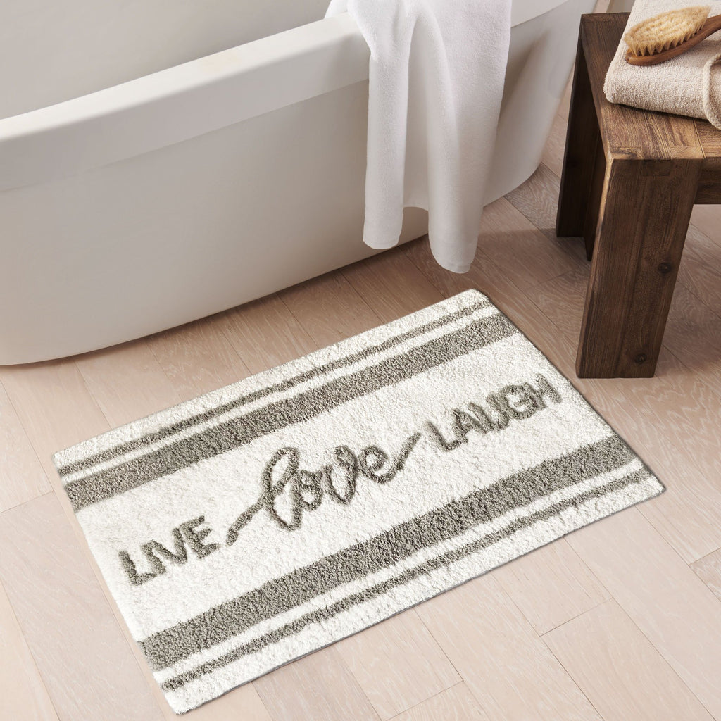 Live Love Laugh Word Novelty Cute Bath Mat