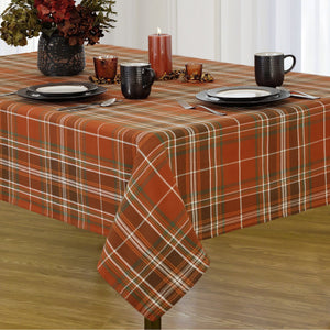plaid cotton tablecloth