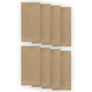 Elegant Woven Leaves Jacquard Damask Napkin, Set of 8