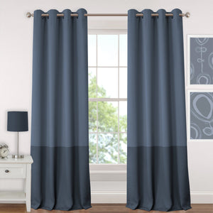 navy curtain