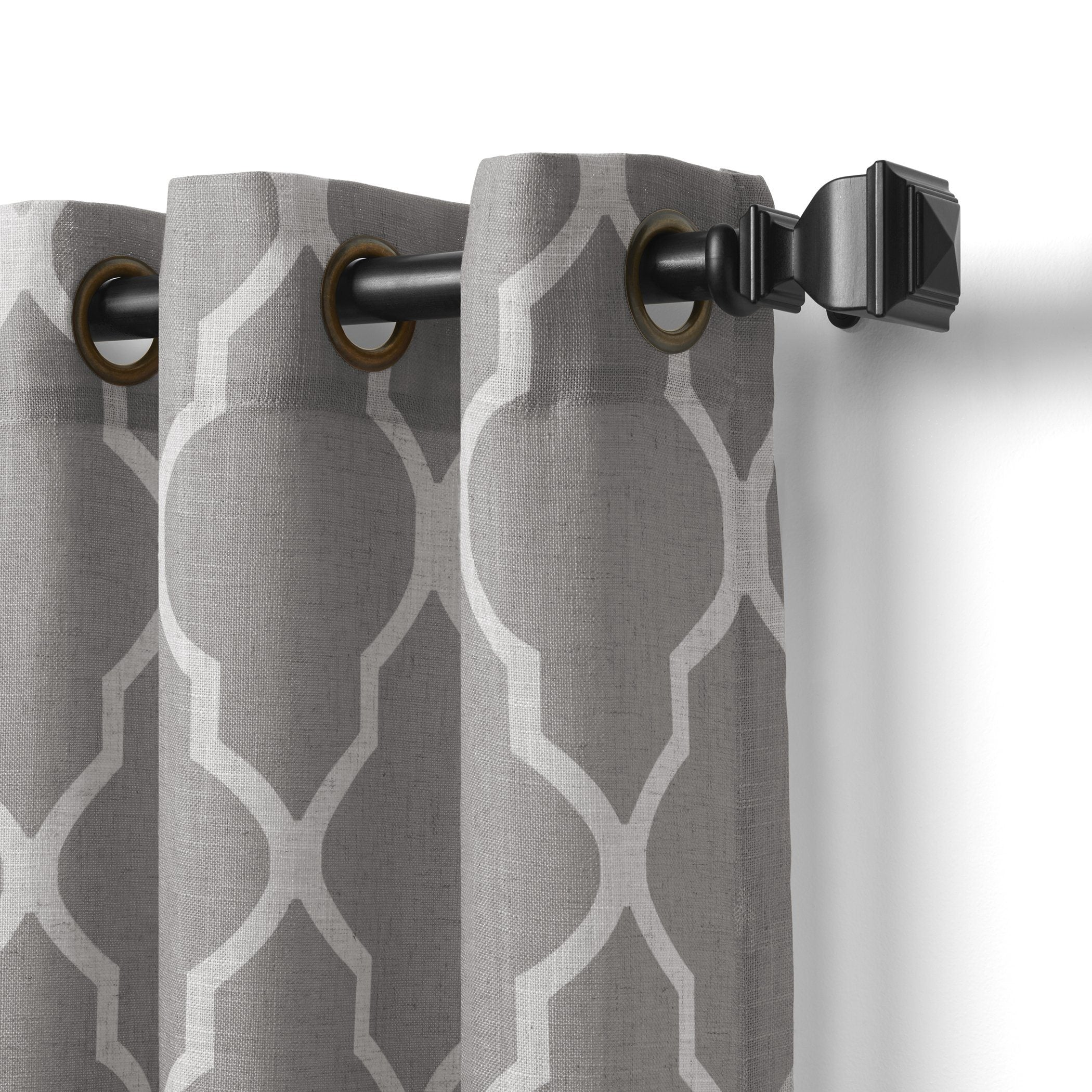 valance curtain grommet home grommetview window fashions grey products panel medalia elrene top