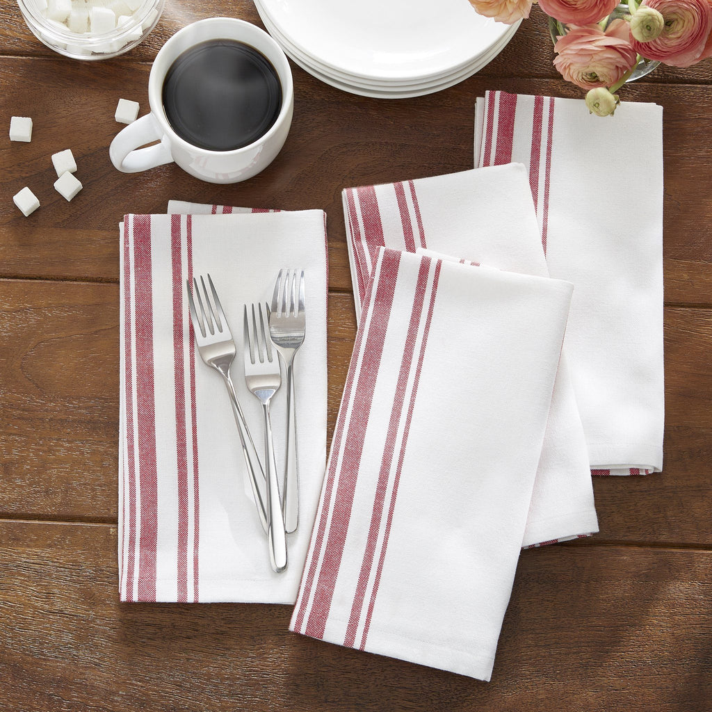 Farmhouse Living Homestead Stripe Napkins, Set of 4