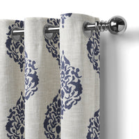medallion window curtain panel