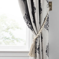 Nomad Decorative Wooden Fringe Tassel Window Curtain Tieback