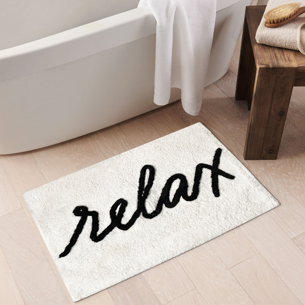 Relax Word Novelty Cute Bath Mat