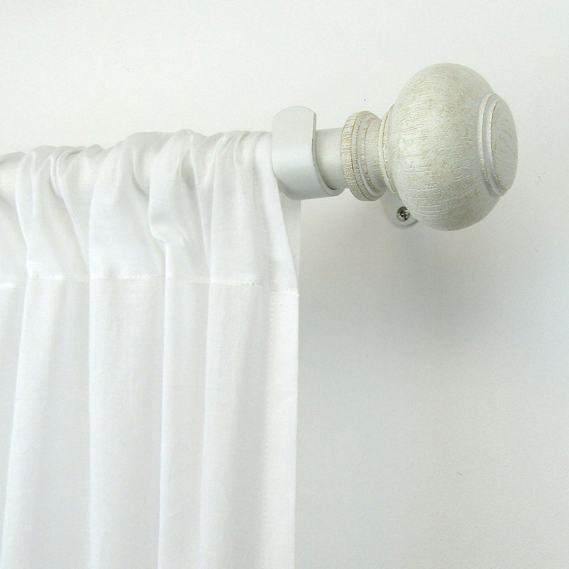 "Rhinebeck Rustic Faux Wood 1"" Window Drapery Single Curtain Rod"