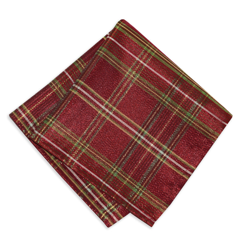 set of 4 plaid napkins