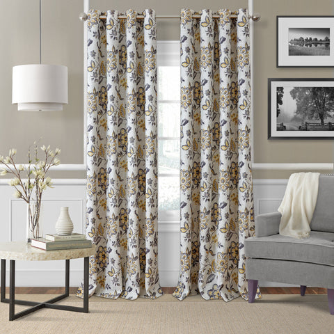 Sorrento Jacobean Floral Window Curtain Collection