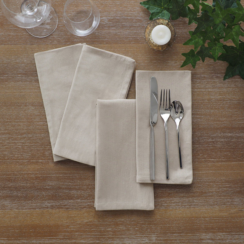 set of 24 linen napkins