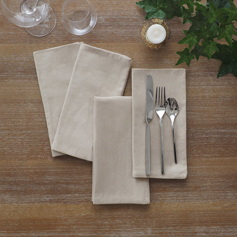 Stone Washed Solid Cotton Napkins (Set of 24)