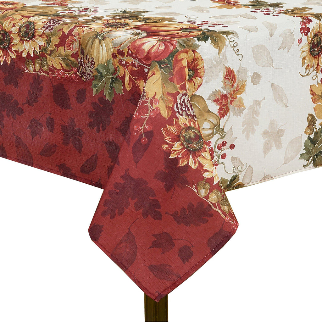 leaves tablecloth