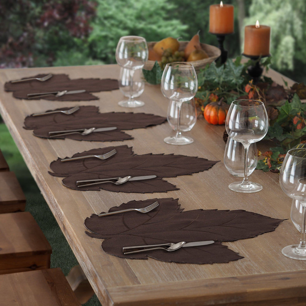 set of 4 leaf placemats