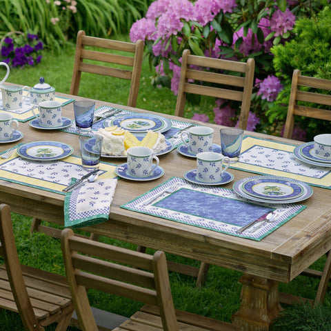 "Villeroy and Boch Switch 3 Cotton Fabric Reversible Placemat, 14""x20"" Set of 4"