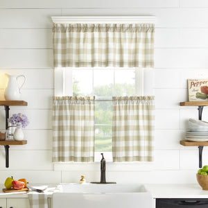 Farmhouse Living Buffalo Check Window Tier & Valance