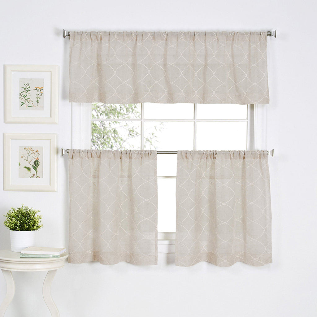 Taylor Rod-Pocket Window Tiers and Valance