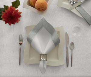Villeroy & Boch New Wave Metallic Border Napkins, Set of 4