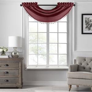 SunVeil Vanderbilt Beaded Waterfall Valance