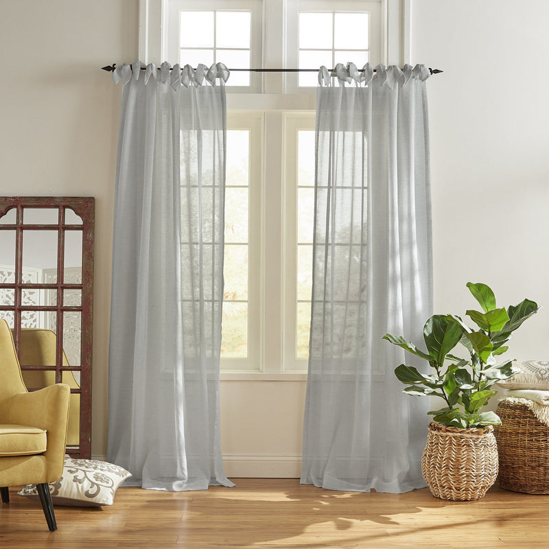 Vienna Tie-Top Sheer Window Curtain