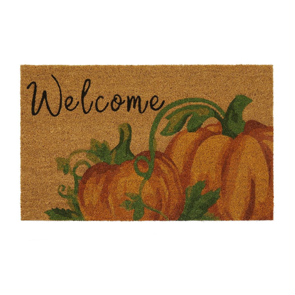 Welcome Pumpkin Coir Doormat