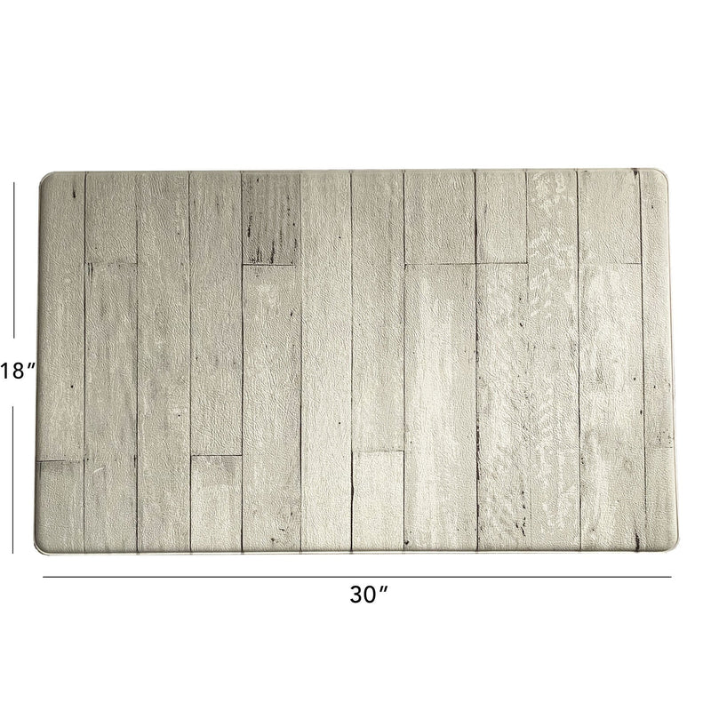 Farmhouse Living Faux Wood Grain Rustic Comfort Anti Fatigue Kitchen Mat