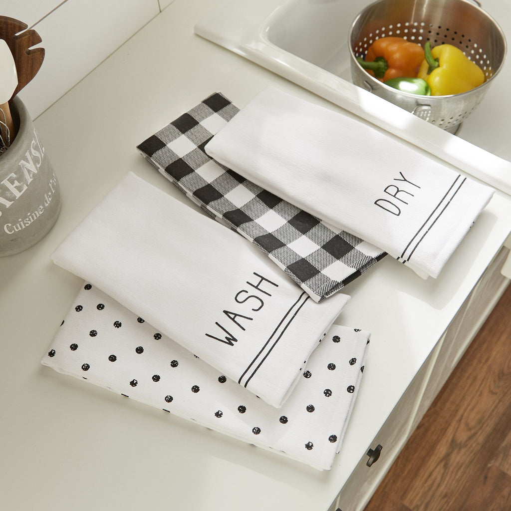 Farmhouse Living Sentiments Kitchen Towels, Set of 4
