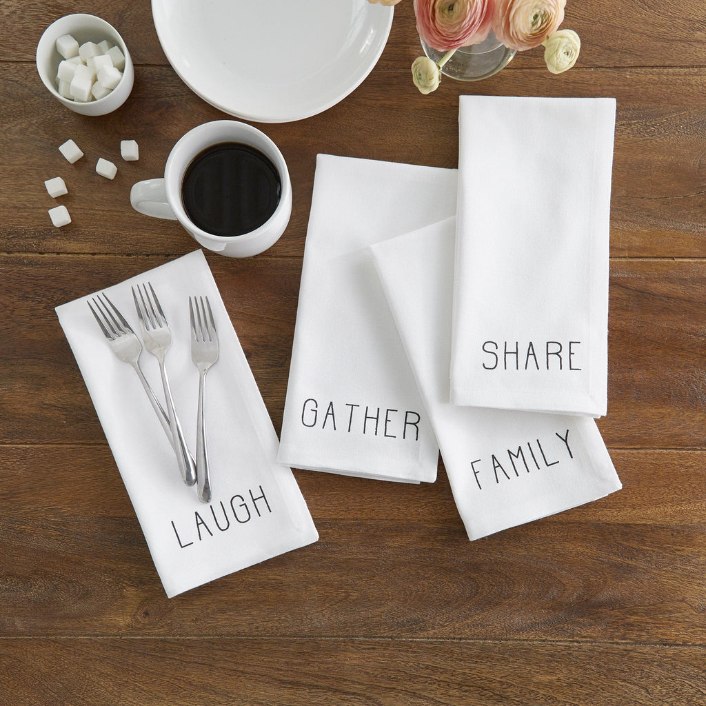 Farmhouse Living Sentiments Napkins, Set of 4