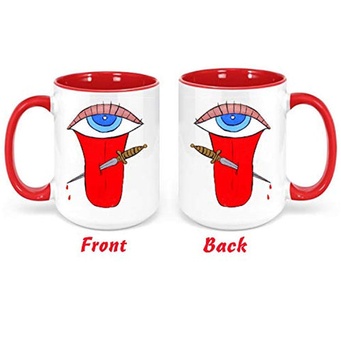 Mal de Ojo Malas Lenguas Evil Eye Beverage Cup Taza Cafe con Leche Coffee Chocolate Perfecto para Los envidiosos
